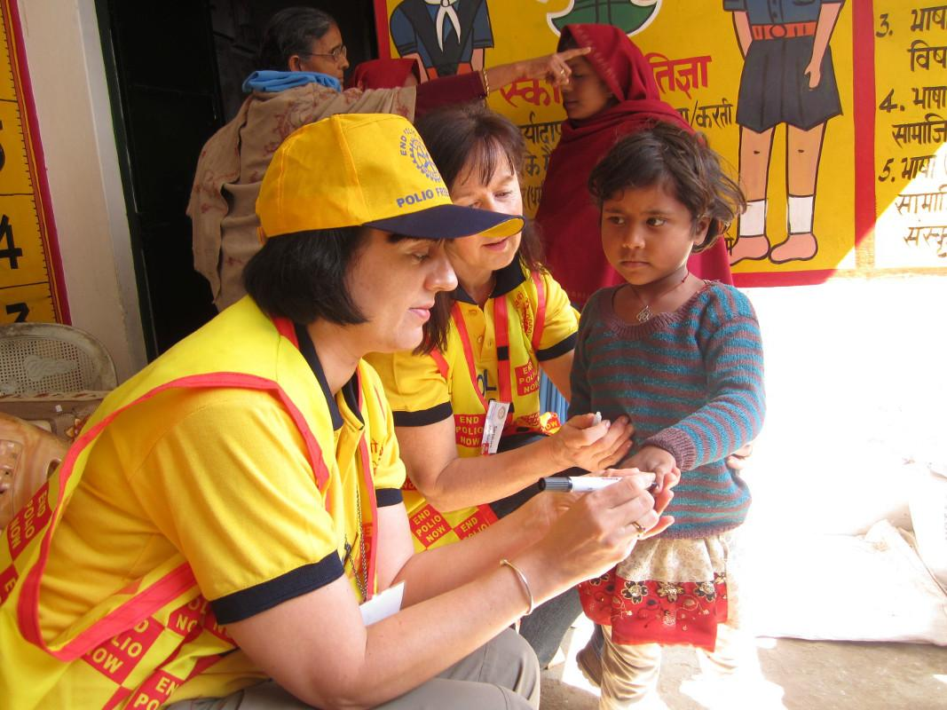 Rotary supports  India National  Immunisation Day - Part of the effort to eradicate Polio