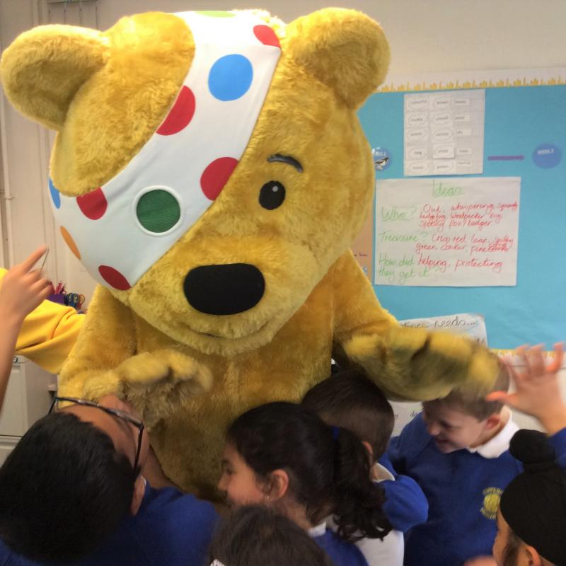 Children in Need - Burnham Beeches Rotary support Children in Need by visiting local schools to raise awareness.