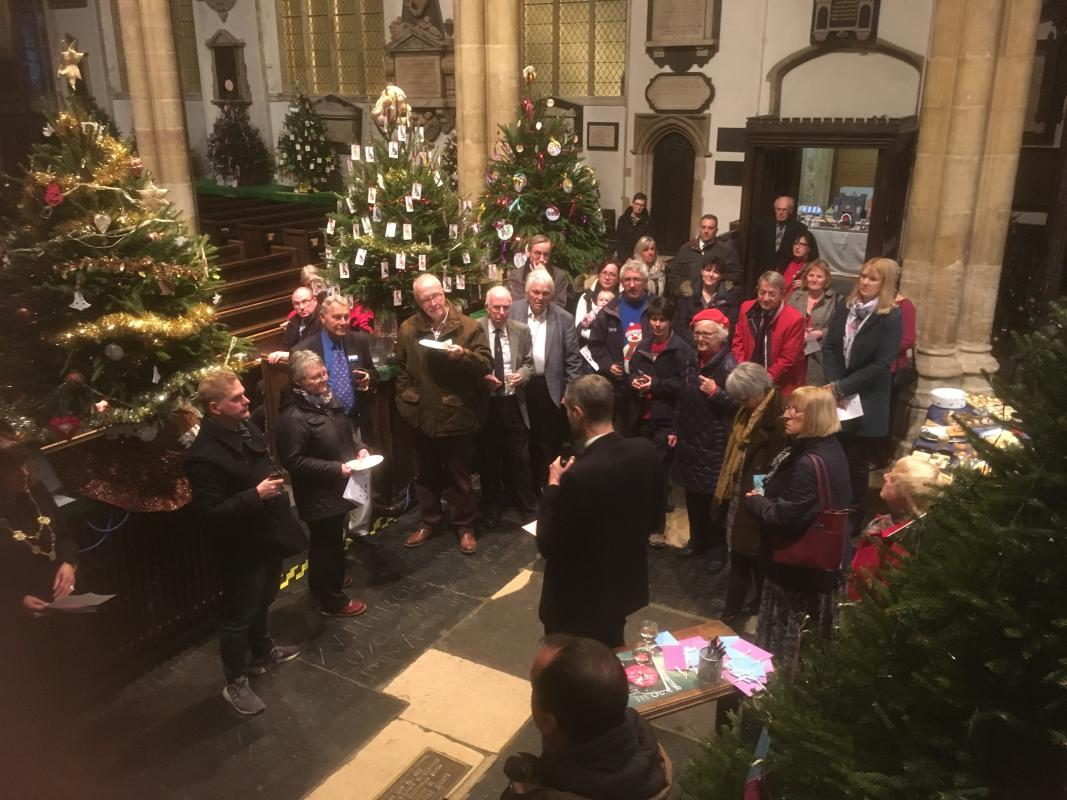 Christmas Tree Festival 2018 - NORWICH - Christmas Tree Festival 2018 - Switching the lights on.