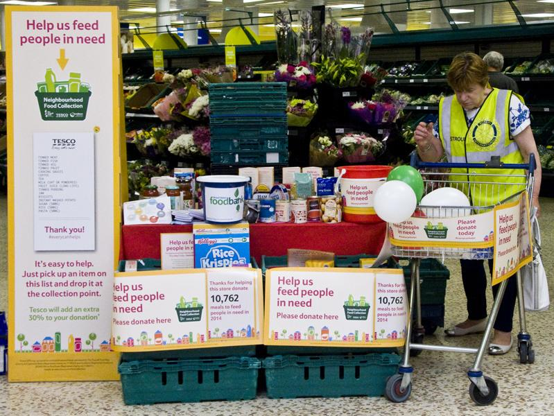 Stroud Food Bank Collection At Tesco Rotary Club Of Stroud
