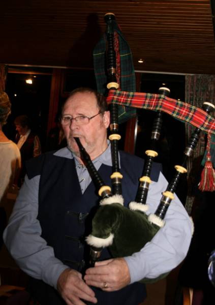 Burns Supper 2014 - Bill McRobb who piped in the haggis and entertained us later in the evening.