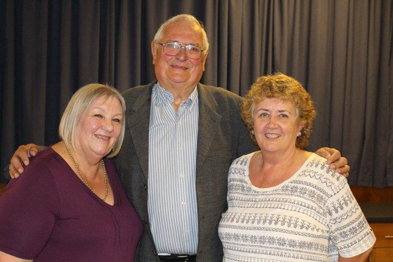 Colin Jones, last chair of Governors together with Rotarians Gillian Stainthorpe and Diana Morton