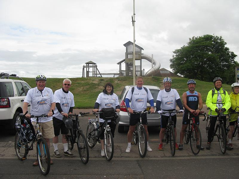2015 Cycle for Prostate Scotland - Cyclists from the Rotary Club of Dundee supporting the Rotary Ride 2015 for Prostate Scotland