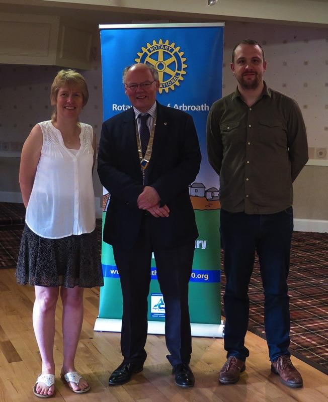 Sheila Dunphy, President George Dunlop, Jonathan Milne