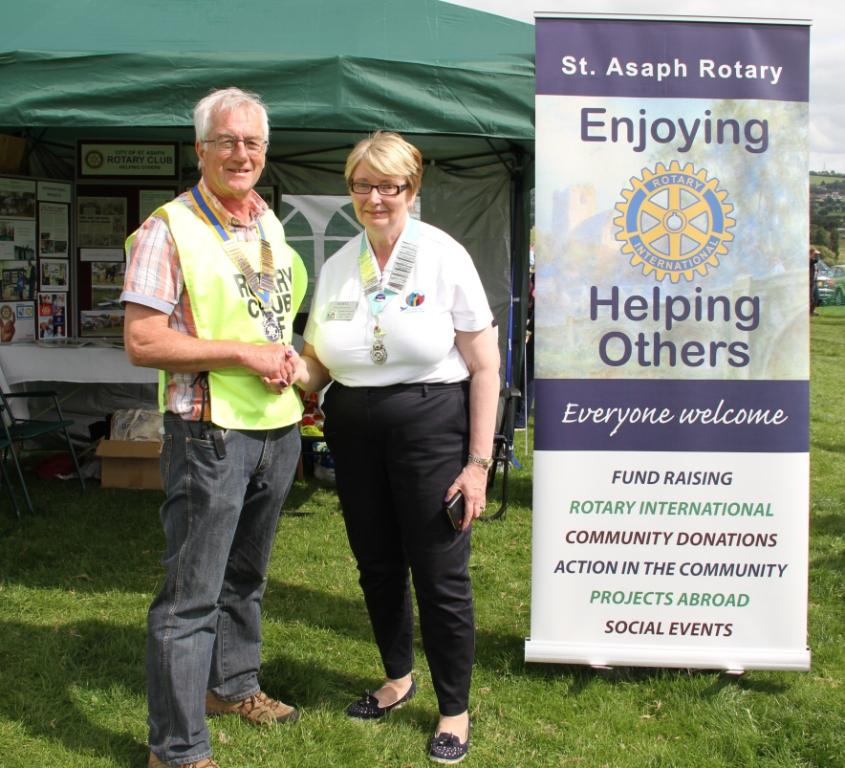 "Tom Yuille, President of the St Asaph Rotary Club commented. "" This is our fifth Country Fayre and the event has proved an enormous success."