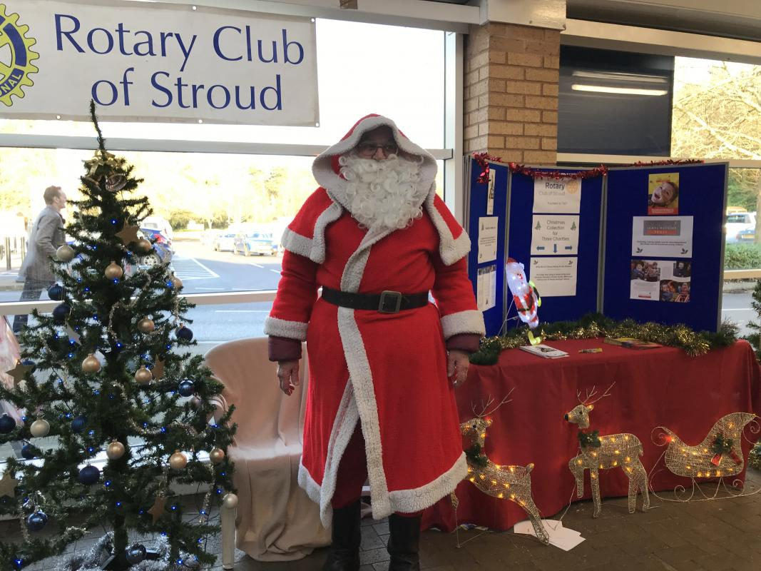 Father Christmas at Stroud Tesco collecting for local charites