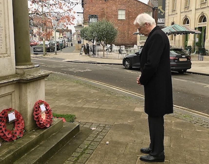 Abingdon Rotary's Treasurer Richard commemorates the Fallen on behalf of us all.