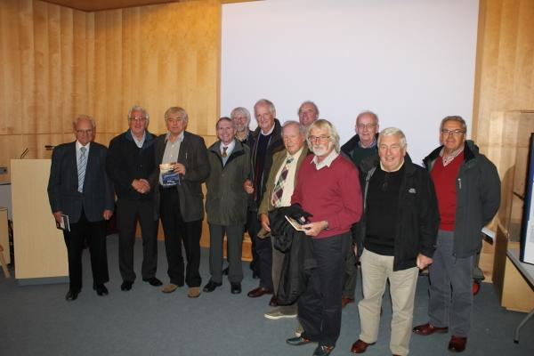 Club members visit to Falmouth - Members with Martin Banks at the National Maritime Museum lecture hall.