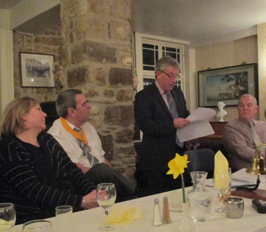 Kevin Donovan of Beaminster School  thanks the club and gives feed back about the mock interviews the club conducted in Beaminster for the school pupils..