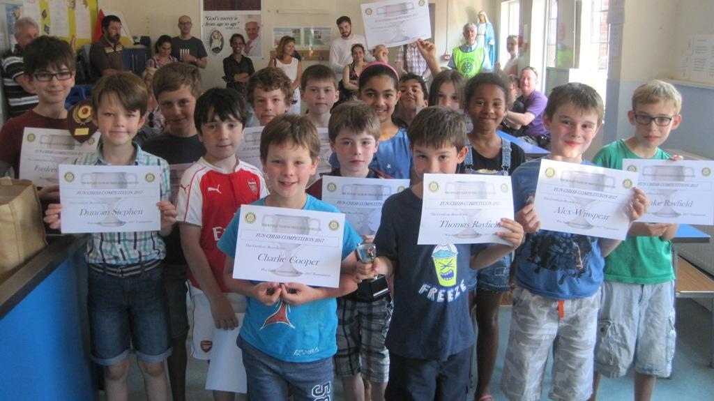 Youth Chess Competition 2017 -   RCPR Chess competition at St Theresa's School