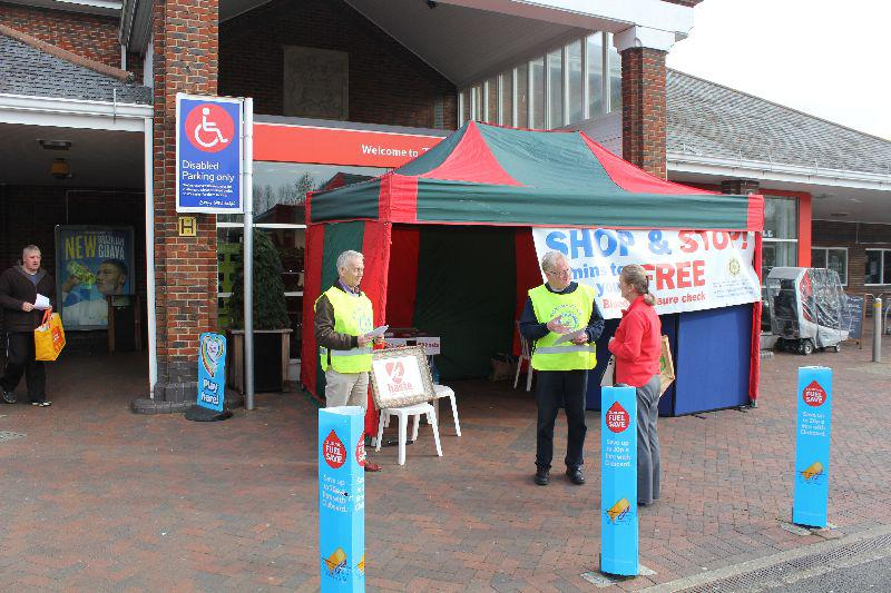 Testing station set up at Tesco Guildford