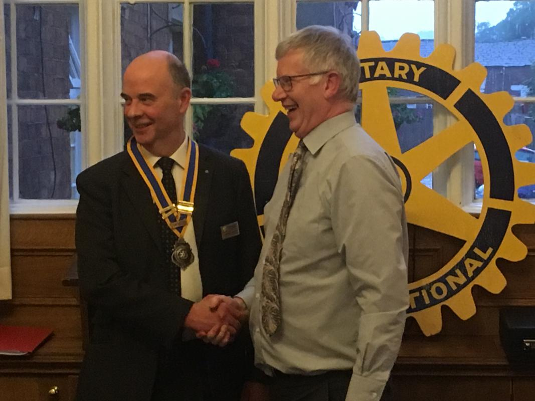 Matthew Grant our out going President welcomes Charles Hardy as the new President for 2019 - 2020