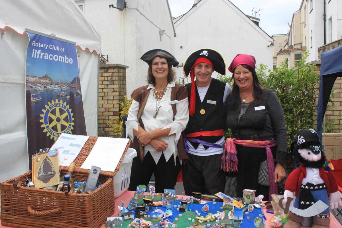 Sea Ilfracombe Maritime Festival  - Our 'Pirate' Theme stall at the Sea Ilfracombe Maritime Festival
