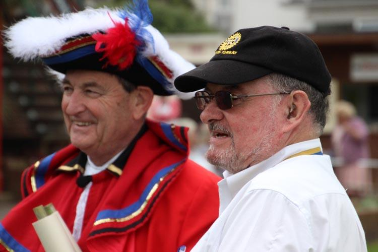Family Fun Day - President Roger Cutler and Town Cryer at Family Fun Day 2016