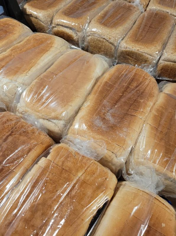 Lots of lovely loaves of bread awaiting delivery across Thanet to those in need.
