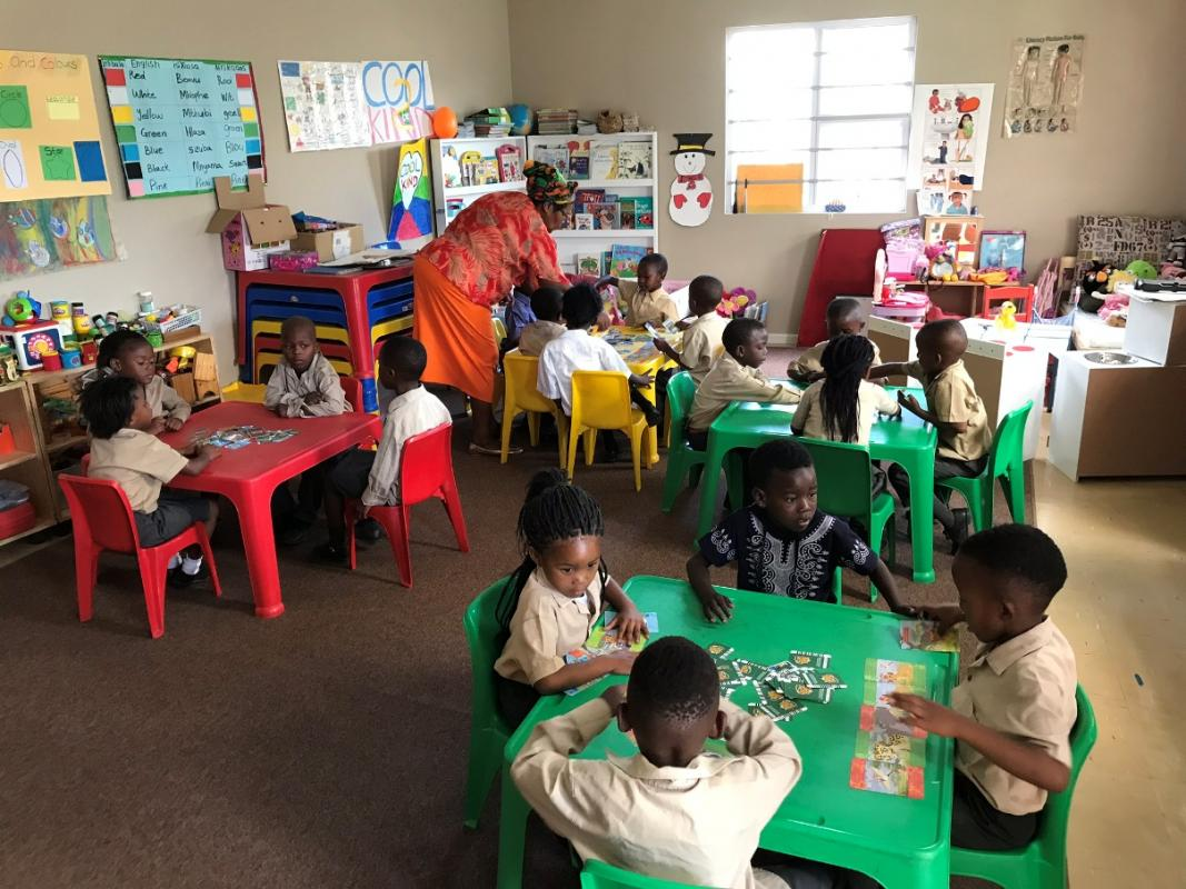 The completed new classroom at Ilitha school in Cape Town, South Africa, is already being well used!