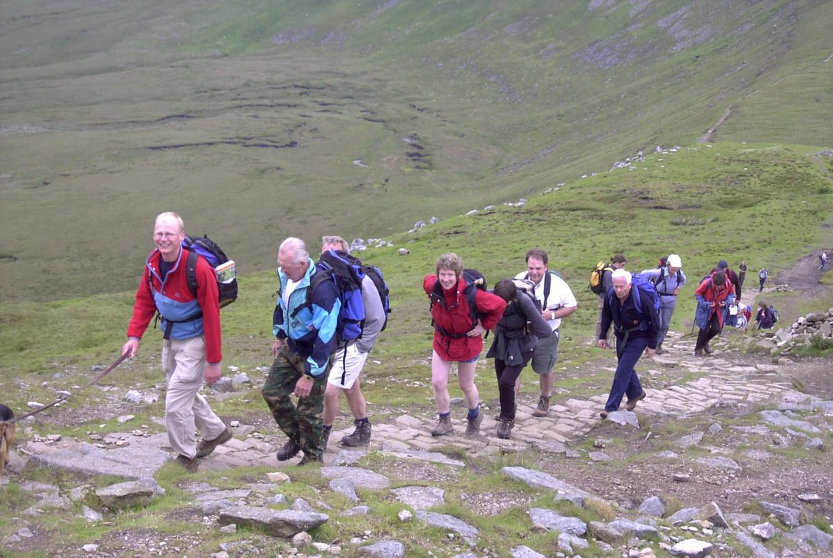 2003 Charity Walk Yorkshire 3 Peaks - Ascent of Whernside