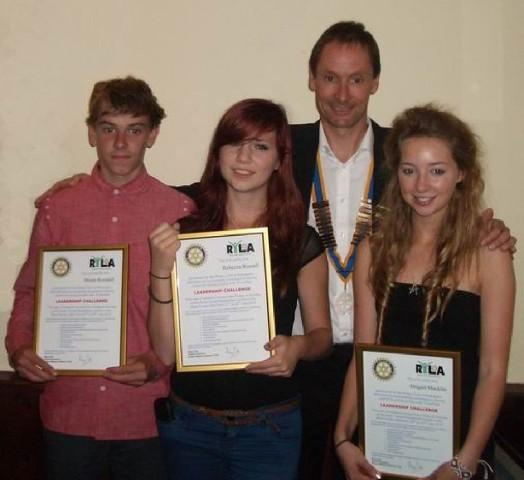 Jon presenting the RYLA students with their certificates
