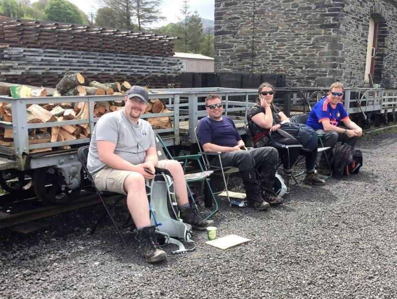 Resting at Llanuwchllyn Station. Just another 12 miles to go...