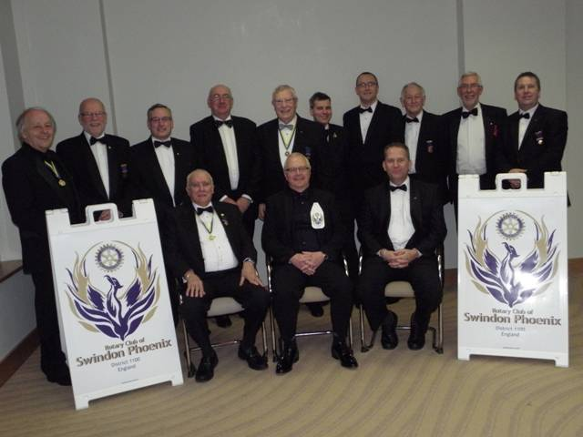 The first Thirteen members for the Rotary Club of Swindon Phoenix