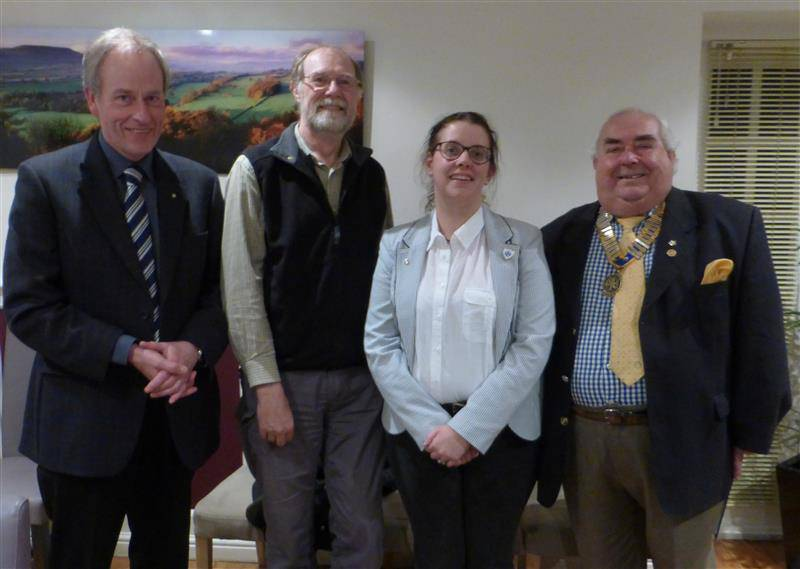 Two new members on one day! - David and Sian with Pres Oliver and Michael Hepper