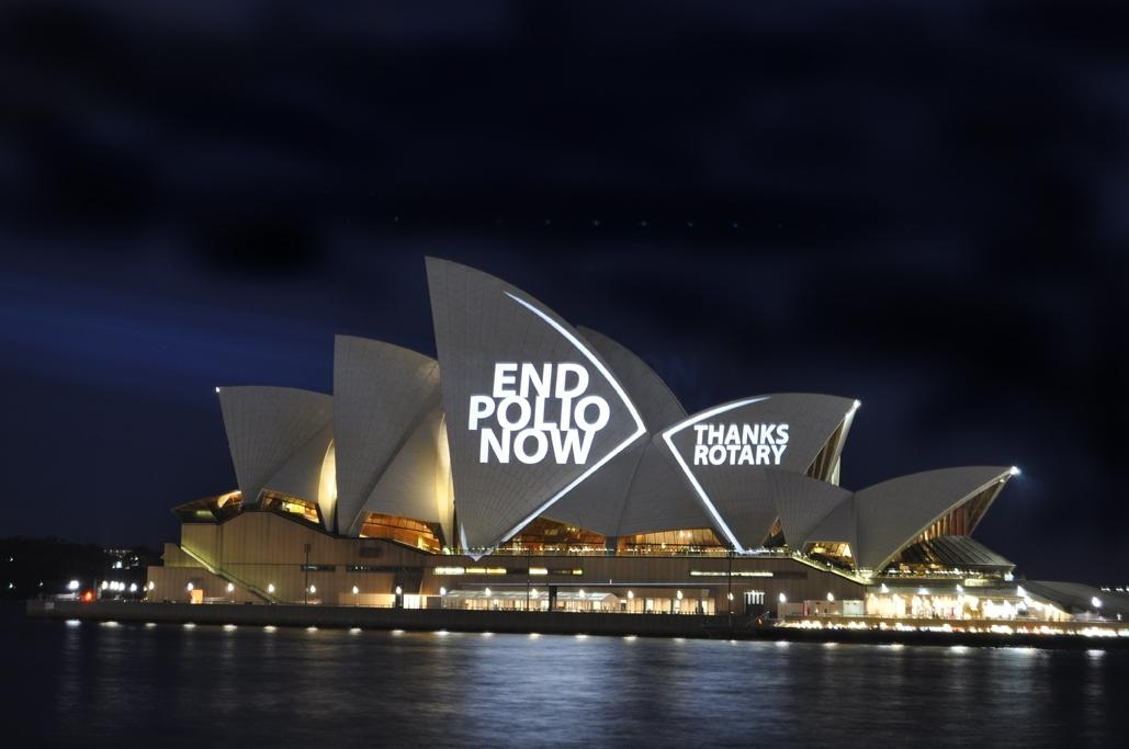 Earlier Initiatives for Polio around Rotary Clubs in the Thames Valley - Sydney Opera House
