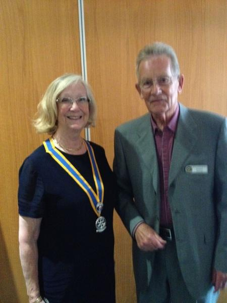 Presidents' Blogs - Past-President Jenny and Robert today