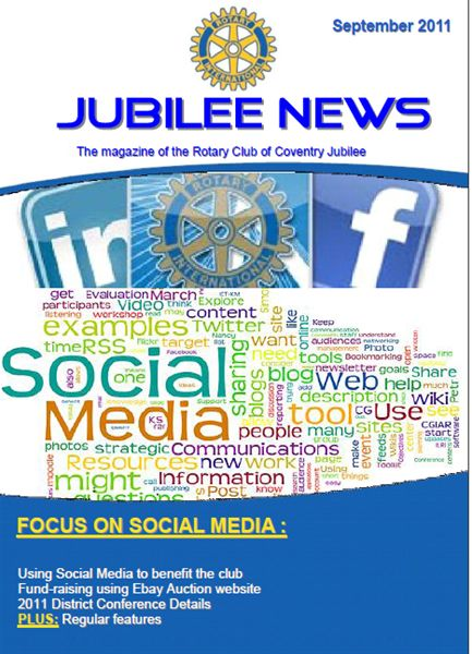 Front page - Jubilee News September 2011 Issue
