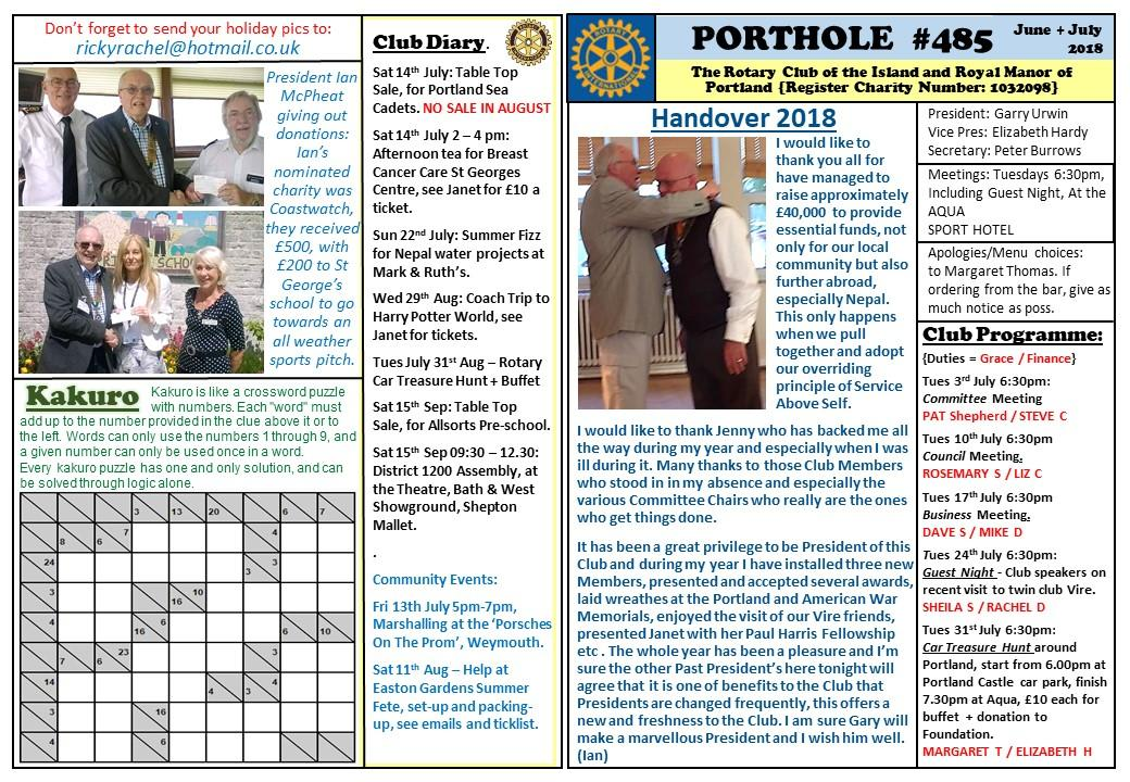 Porthole - Our monthly Magazine -