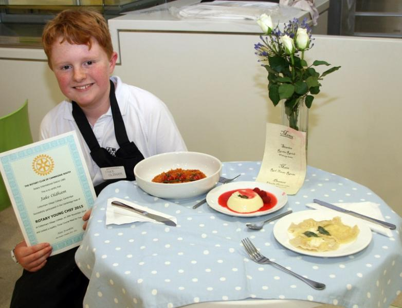 Nov 2014 Rotary National Young Chef Club Competition 2014-2015 - this years winning table setting and menu