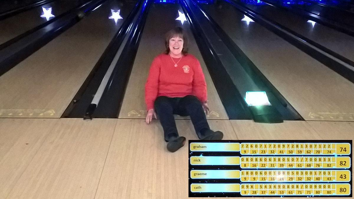 Young Carers Ten Pin Bowling - On Strike! And I'm not moving until one of you Rotary boys agrees to play with me. As you can see, Kath was consistent.