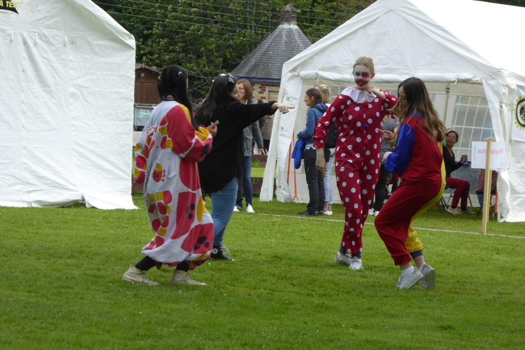 "Just ""clowning around"" - some of the children enojoying the activities at Craibstone."