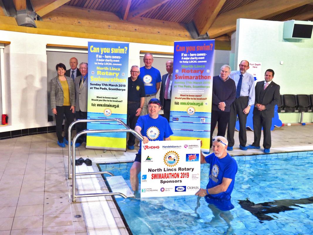Swimarathon held for Charities on Sunday, 17th March 2019 - Click DETAILS for pictures - The 2019 Launch for the Swimarathon