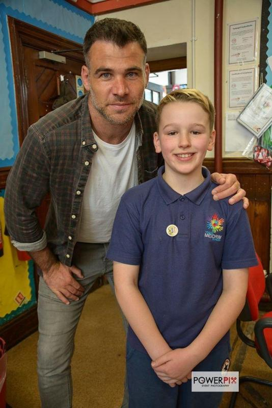 Leo and his Hero Mike Phillips