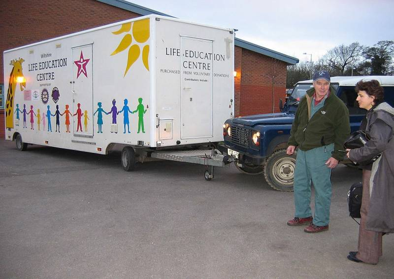 Life Education Centre being delivered to another school