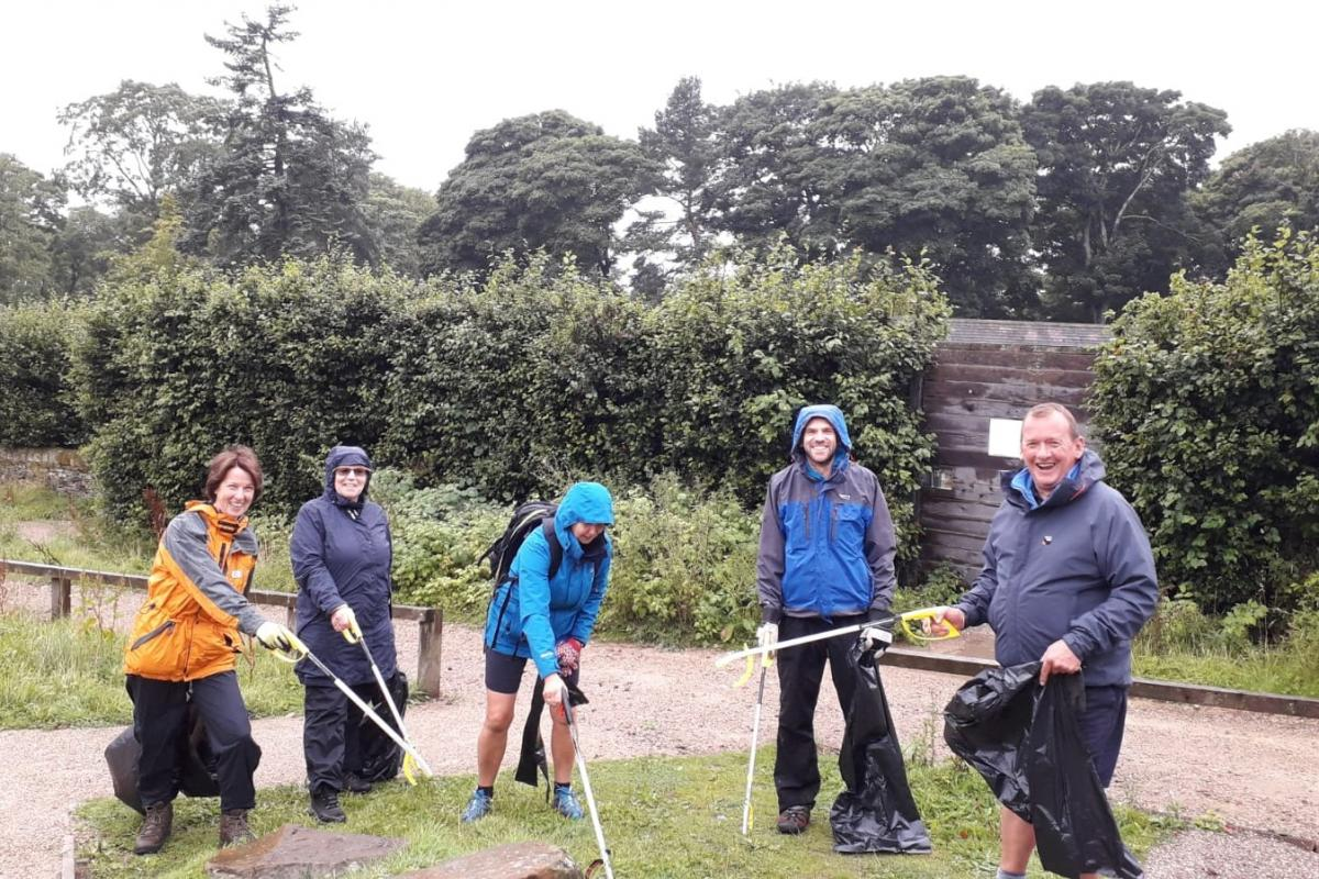 Litter picking on the Longshaw Estate