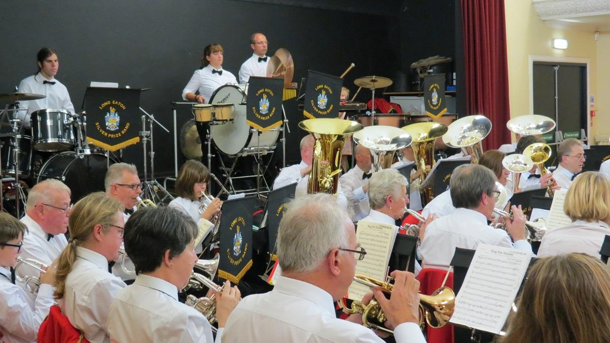 Packed hall for the 3rd Listen to the Band night - Long Eaton Silver Prize Band Nottingham Rotary