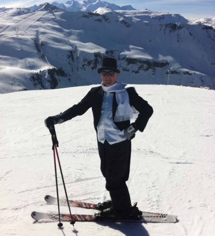 President Geoff on a recent Rotary Becket members' ski trip
