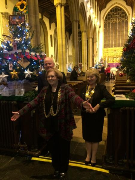 Christmas Tree Festival - December 2015 - The Lord Mayor, Brenda Arthur, at the opening ceremony