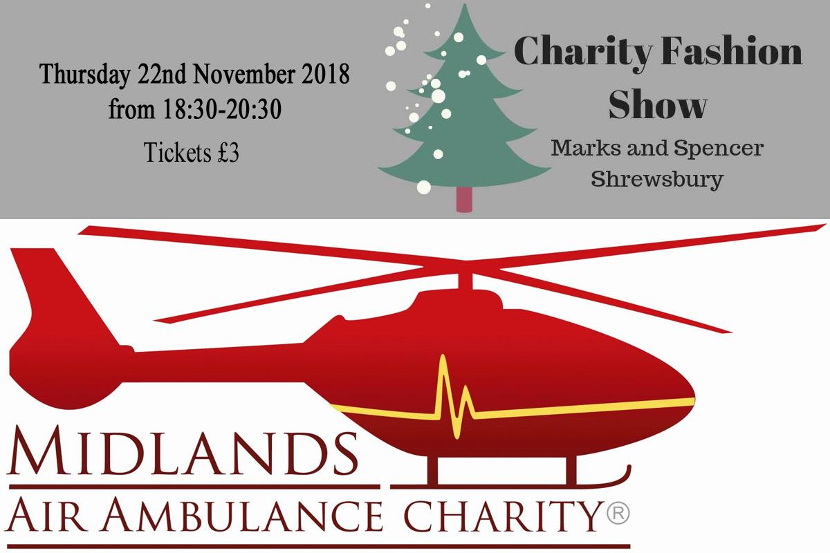 Charity Christmas late night fashion show and shopping at M&S Shrewsbury in aid of the Midlands Air Ambulance
