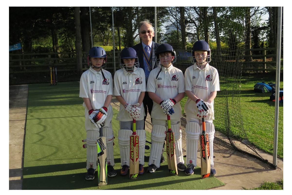 Mary Hignett Bequest Fund - Knockin and Kinnerley Cricket Club receive funding for one of the mats in their batting cages.