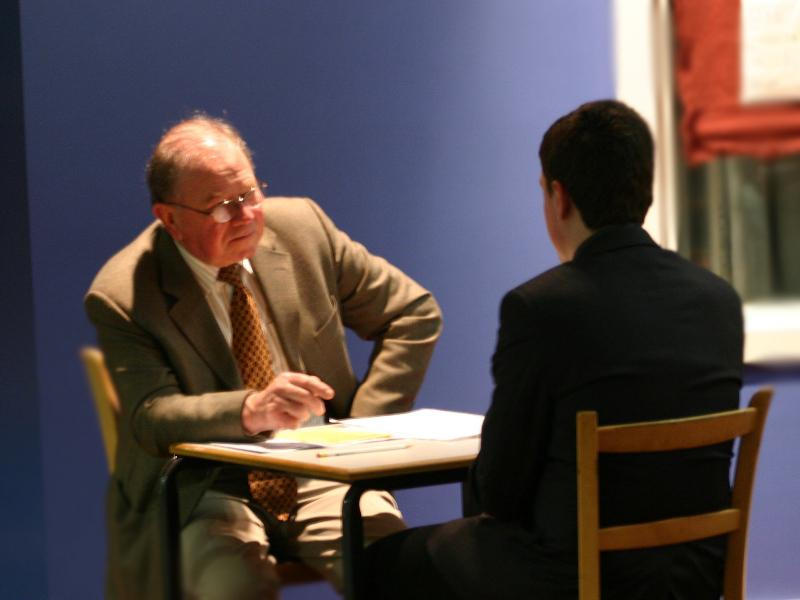 Rotarians carry out mock interviews at schools in Wrexham to help young people develop their communication skills.