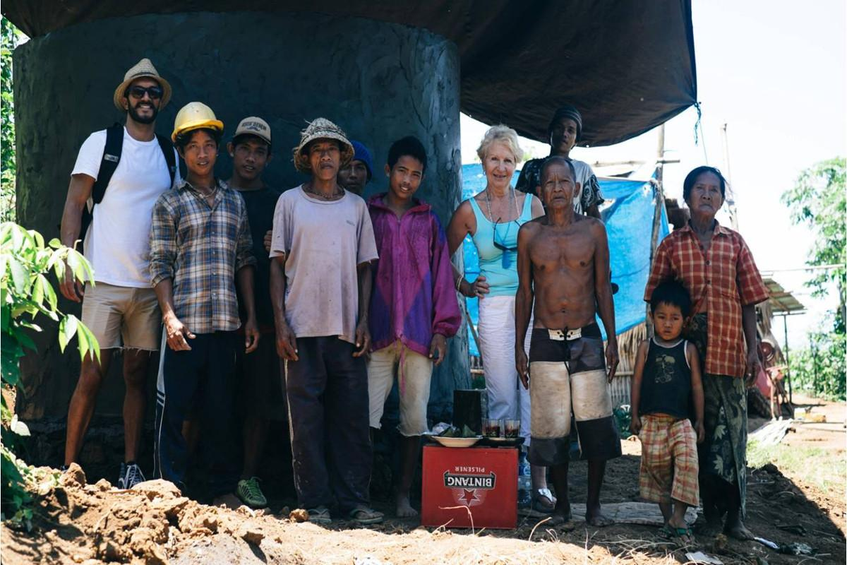 International projects funded by district grants - Misbourne Matins water tanks in Bali