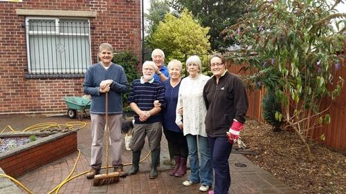 Lincoln MS Centre - Members of the club at the MS Centre in Lincoln helping with the garden