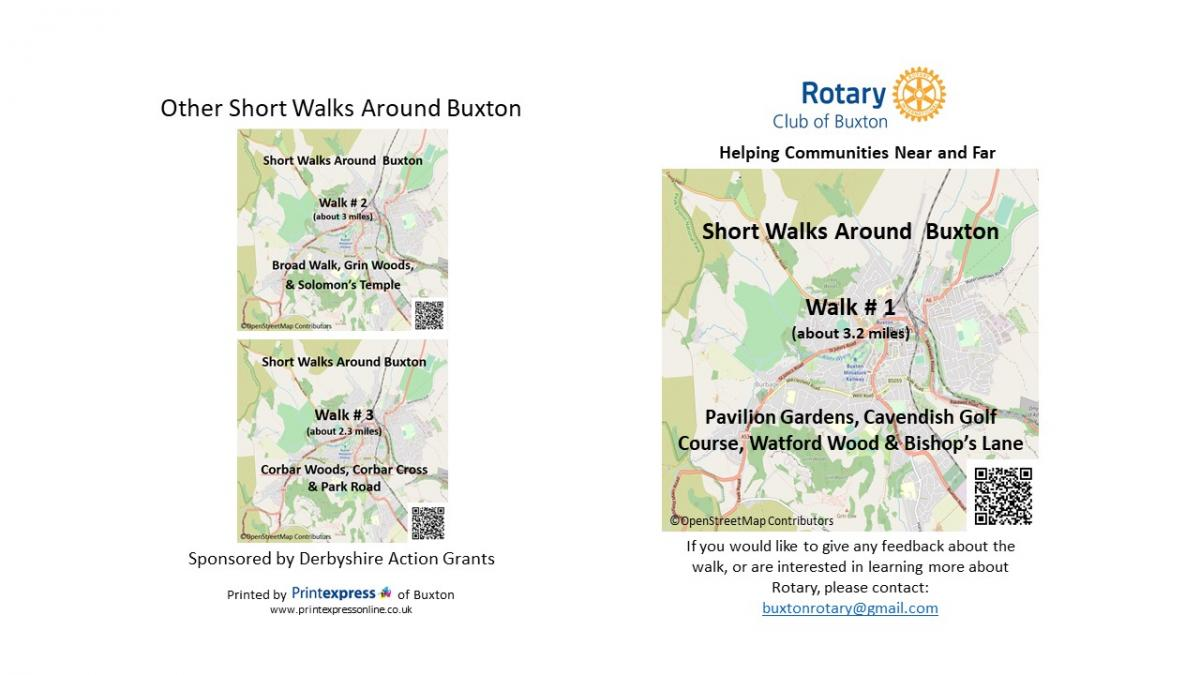 Rotary Short Walks Around Buxton  -