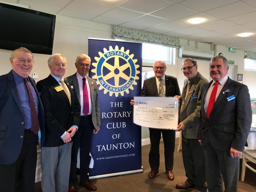 Taunton Rotary Club has provided over £7,000 of support to REMIT.
