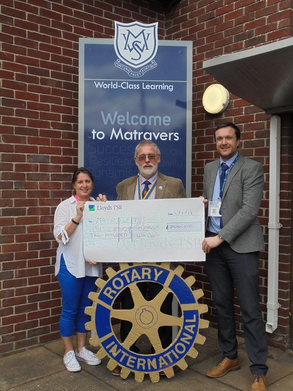 Donation to Matravers School Music Department for two