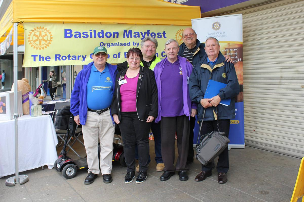 Basildon Concord Team enjoying the fruits of their work
