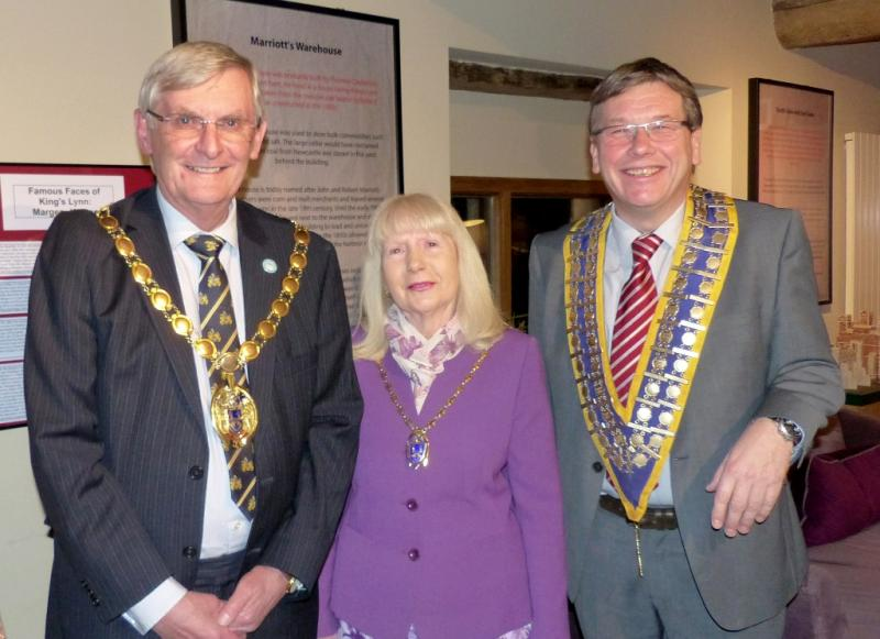 The King's Lynn Mayor & Mayoress with King's Lynn Rotary President
