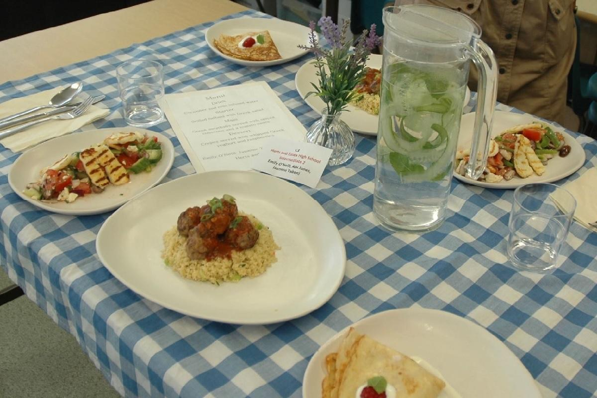 The meal produced by Herts & Essex High School
